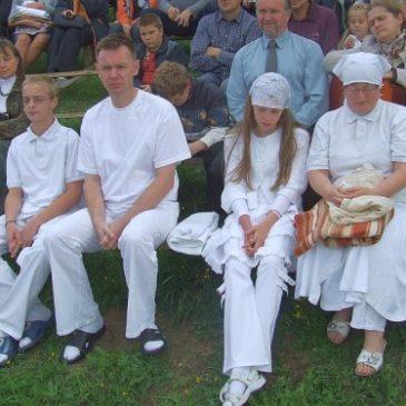 Chrzest w Palowicach 6 września 2009 r