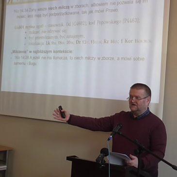 Kobiety wasze niech milczą – 1Kor 14,34 – Krzysztof Gołębiowski