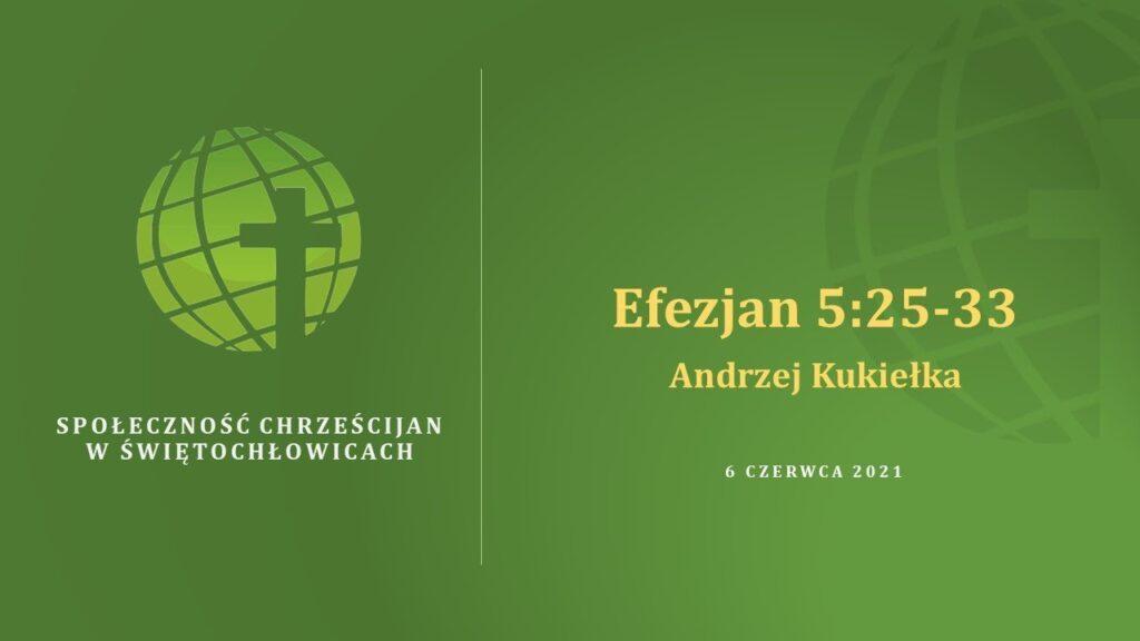 Efezjan 5,25 – 33 – Andrzej Kukiełka