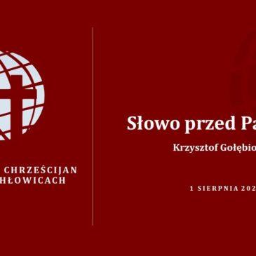 Słowo przed Pamiątką – Krzysztof Gołębiowski